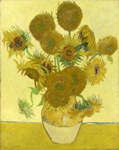 This is one of four paintings of sunflowers dating from August and September 1888. Van Gogh intended to decorate Gauguin's room with these paintings in the so-called Yellow House that he rented in Arles in the South of France. He and Gauguin worked there together between October and December 1888.