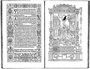 """MEDIA FOR: Calligraphy Two-page spread from Geoffroy Tory's Book of Hours (1531). 4 of 67 """"Book of Hours"""" Two-page spread from Geoffroy Tory's Book of Hours (1531)."""