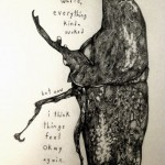 Graphite Drawing and Bug Etching