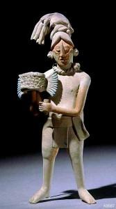 Figure with headdress Ancient Maya (Jaina, Mexico) Clay, 20.3 cm